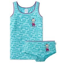 Schiesser Mädchen - Unterwäsche Set Unterhemd +Slip aus Serie Yoga Cat (140)