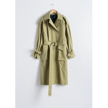 Oversized Belted Trenchcoat - Green