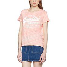 Superdry Damen Pullunder Premium Goods BF, Rosa (Candy Coral Jersey Injected White), Gr. 38 (Herstellergröße: Small)