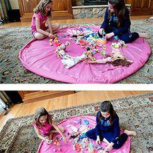 panniuzhe Kinder Play Matte Faltbare Baby Spielzeug Aufbewahrung erhalten Tasche für Home, Outdoor Picknick, Strand Teppich über 152,4cm Rot