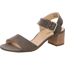 Paul Green 6085-042 Damen Elegante Sandalette Veloursleder 40-mm-Blockabsatz, Groesse 6, Khaki