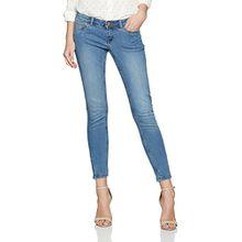 Noisy may Damen Jeanshose Nmeve LW SS Ankle Zip Jeans LT BL Noos, Blau (Light Blue Denim), W27/L32 (Herstellergröße: 27)