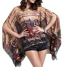 Top One Damen Asymmetrisch Blusen lange Hieb Hülsen Hemd Oberseiten