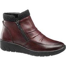 Weite G: normale Füße mit durchschnittlicher Breite Weite H: für etwas kräftigere, volle Füße Weite K: für breite Füße mit besonderen Ansprüchen Ein unerlässlicher Begleiter für den Herbst und Winter ist der Boot von Medicus. Das liegt an seinen funktionalen Eigenschaften, zu denen nicht nur ein zweifacher Reißverschluss, sondern auch ein herausnehmbares Fußbett gehört. Komplettiert wird der Komfort zudem durch ein teilweise textiles Warmfutter. Das aus hochwertigem Leder bestehende Obermaterial überzeugt durch eine Gestaltung in Bordeaux mit Faltenlegung auf dem Spann sowie durch einen dunklen, 4 cm hohen Keilabsatz.