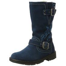 Lurchi Mädchen Hohe Stiefel, Blau (Petrol), 32 EU