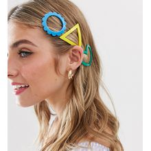 Glamorous - Exklusive Haarclips aus hellem Kunstharz - Mehrfarbig