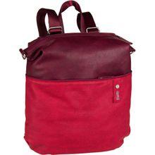 zwei Rucksack / Daypack Jana JR14 Canvas/Red (8 Liter)