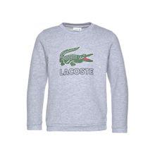 LACOSTE Sweatshirt graumeliert / grün / schwarz