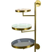 Eisen Wandetagere 44x72 cm gold