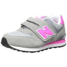 New Balance Unisex-Kinder 574 Hohe Sneakers, Mehrfarbig (Grey/Pink 026Grey/Pink 026), 39 EU