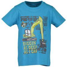 Blue Seven Rundhals T-Shirt Bagger - Baustelle