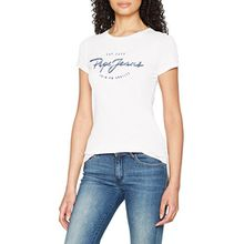 Pepe Jeans Damen T-Shirt Charleen, Weiß (Off White), Medium