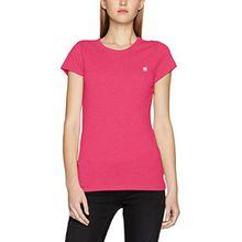 G-STAR RAW Damen T-Shirt Eyben Slim R T Wmn S/S, Rosa (Bright Bazooka 7178), Medium
