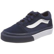 Vans Unisex-Kinder Old Skool Sneaker, Blau (Mono Bumper), 35 EU