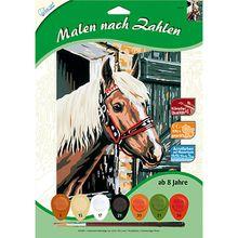 Malen nach Zahlen Pferd im Stall