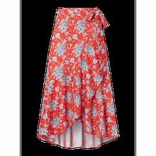 Wickelrock mit floralem Muster