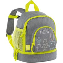 Lässig Kindergarten-Rucksack 4Kids, Mini Backpack, About Friends grau grau Junge