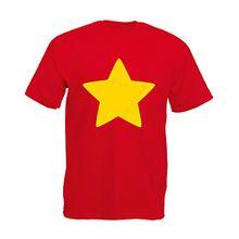 Star Shirt, Mann Gedruckt T-Shirt - Rote/Gelb XL = 111-116cm