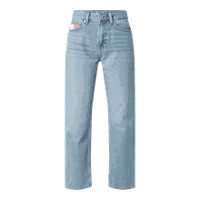 High Rise Straight Fit Jeans aus Baumwolle Modell 'Harper'
