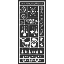 C. KREUL Flexible Designschablone 12,5 x 28,5 cm Merry Christmas
