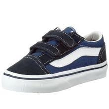 Vans Old Skool, Unisex -Kinder Sneaker, Blau, 24.5