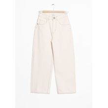 High Waisted Culotte Jeans - White