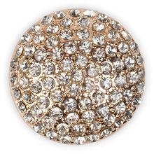 styleBREAKER runder Magnet Schmuck Anhänger mit Strasssteinen besetzt für Schals, Tücher oder Ponchos, Brosche, Damen 05050039, Farbe:Rosegold
