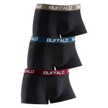 BUFFALO Boxer (3 Stck.) dunkelbeige / petrol / dunkelrot / schwarz