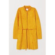 H & M - Mantel aus Velourslederimitat - Yellow - Damen