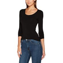 ONLY Damen Langarmshirt Onllive Love New LS O-Neck Top Noos, Schwarz (Black), 34 (Herstellergröße: XS)