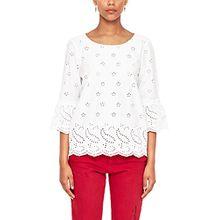 s.Oliver RED LABEL Damen Blusenshirt mit Lochspitze White 42