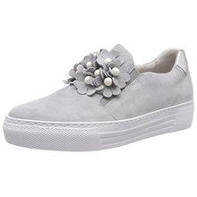 Gabor Shoes Damen Comfort Basic Derbys, Grau (Light Grey/Silber), 42.5 EU