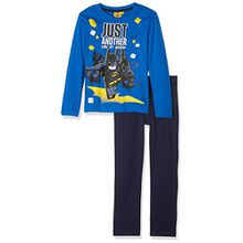 Lego BATMAN Jungen Zweiteiliger Schlafanzug 161987, Bleu (Peincess Blue/Peacoat 19-3920TCX), 4 Jahre