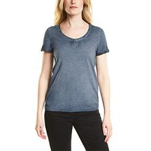 Cecil Damen T-Shirt 311938 Janna, Blau (Deep Blue 10128), X-Large