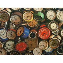 """""""Mini Prints"""" 100% Baumwolle Stoff–Multi Verwendung Vorhang Jalousie Quilting Craft–Uhren–Meterware"""