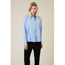 Stella McCartney Gestreifte Baumwoll-Bluse Blau/Weiß - 100% Baumwolle