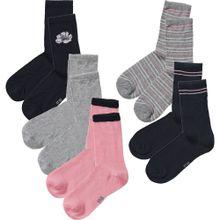 NAME IT Socken 'NKFVILDE' grau / altrosa / schwarz