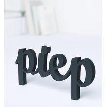 NOGALLERY Piep - Deko Schriftzug Holz