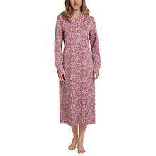 Schiesser Damen Nachthemd 1/1 Arm, Rot (Malve 525), 42