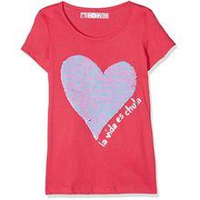 Desigual Mädchen T-Shirts TS_CHIVITE, Rosa (Fuchsia Rose 3022), 152 (Herstellergröße: 11/12)