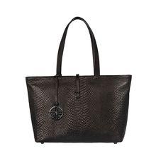 Silvio Tossi Ledertasche mit Anaconda-Prägung Handtaschen schwarz Damen