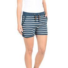 Blend She Kira Damen Sweatshorts Bermuda Shorts Kurze Hose Mit Fleece-Innenseite Und Streifen-Muster Regular Fit, Größe:S, Farbe:Ensign blue (70260)