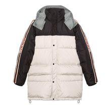 Mantel aus Nylon mit GucciStreifen