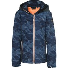 ICEPEAK Softshelljacke 'REGAN' blau / orange