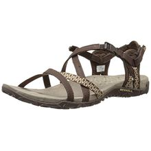 Merrell Terran Lattice Ii, Damen Sandalen, Braun (Dark Earth), 37 EU