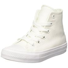 Converse Unisex-Kinder CTAS Ii Hi Sneakers, Weiß (White/White/Navy), 28 EU