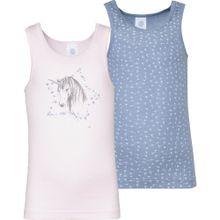 SANETTA Unterhemden blau / pastellpink