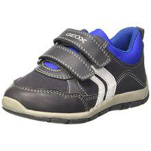 Geox Baby Jungen B Shaax A Sneaker, Grau (Grey/Royal), 22 EU