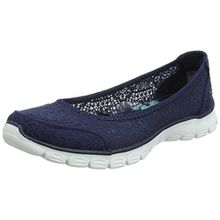 Skechers Damen Ez Flex 3.0-Beautify Geschlossene Ballerinas, Blau (Navy), 37 EU