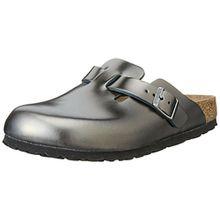 BIRKENSTOCK Damen Boston Clogs, Grau (Metallic Anthracite Soft Footbed), 38 EU
